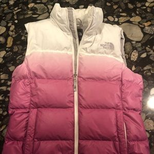 The North Face Women's Med Puffy Pink Ombré Vest